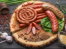 Big Variety of Sausages from Ukraine