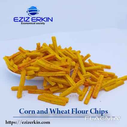 Чипсы из кукурузной и пшеничной муки
