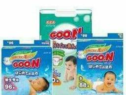 Оптовые поставки детских подгузников Goo. N. Япония.