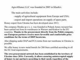 Wholesale honey from Ukraine